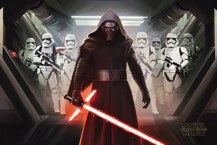 Star Wars The Force Awakens Kylo Ren & Stormtroopers  61x91,5cm Movie Poster | Buy it now